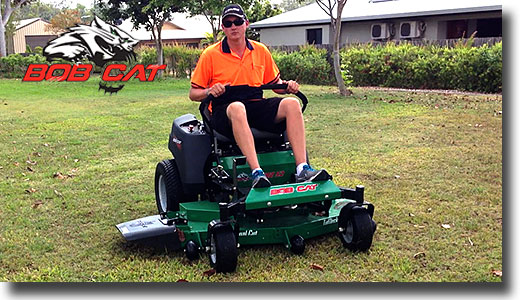 Lance from Townsville in Queensland on a Bobcat mower