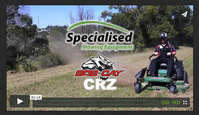 Bob-Cat CRZ zero turn mower video